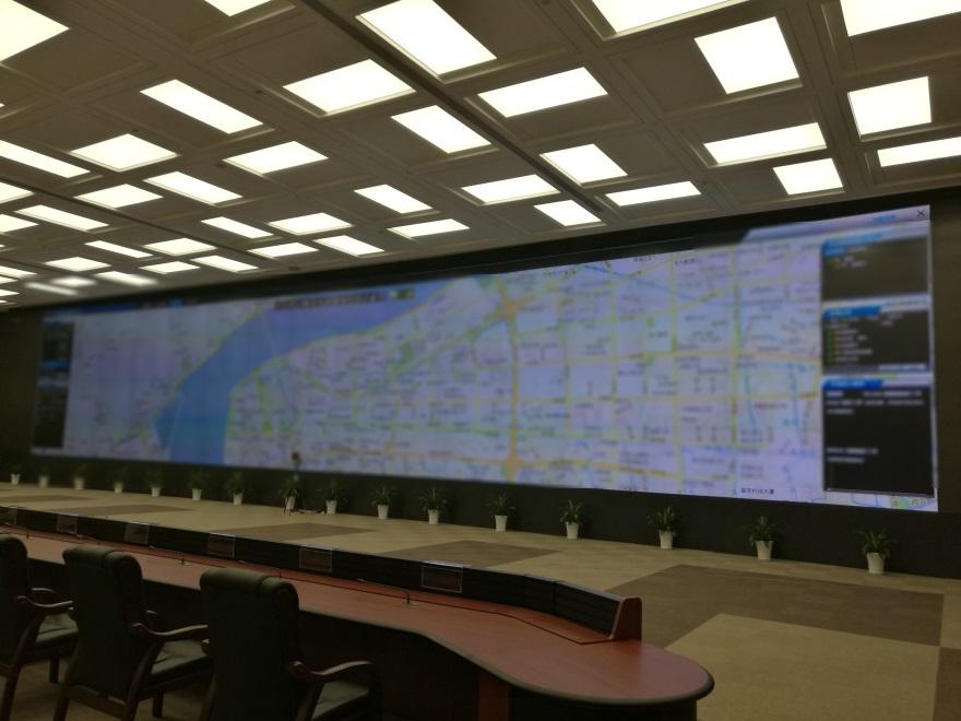 杭州公安指挥中心大厅大屏vwin152
