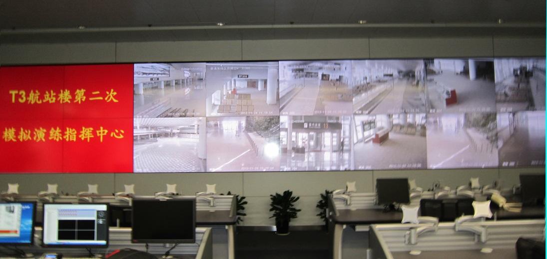 为萧山机场建设的大屏vwin152